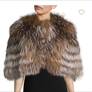 NWT FOX FUR CAPE EXCLUSIVELY FROM SAKS 5TH AVE